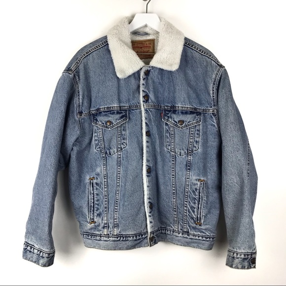 Levi's Other - [Sold] Vintage Levi's Trucker Jean Jacket Sherpa